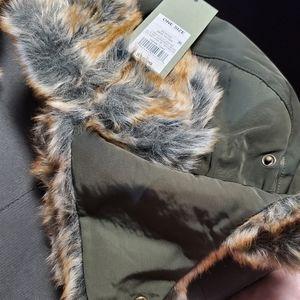 Mens faux fur trapper hat Green